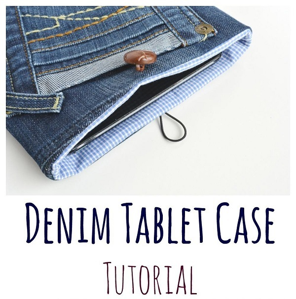 Tutorial: Upcycled jeans tablet case
