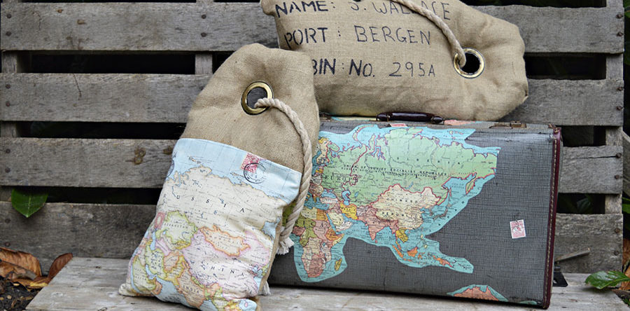 Tutorial: Luggage tag map pillows