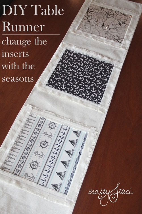 Tutorial: Table runner with interchangeable inserts