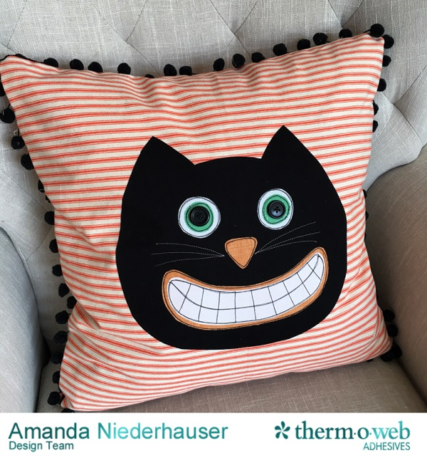 Tutorial: Black cat Halloween pillow