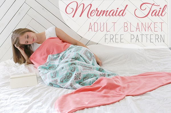 Free pattern: Mermaid tail blanket for adults