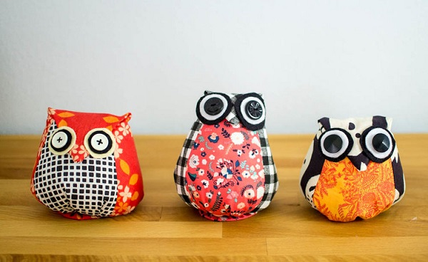 Free pattern: Adorable owl softies in any size