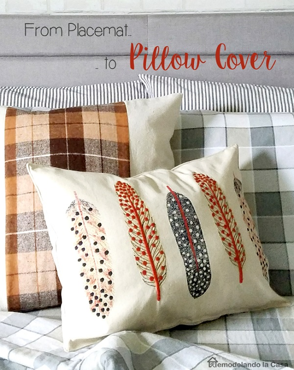 Throw Pillow Sewing Instructions : Tutorial: Easy throw pillow from a placemat ? Sewing