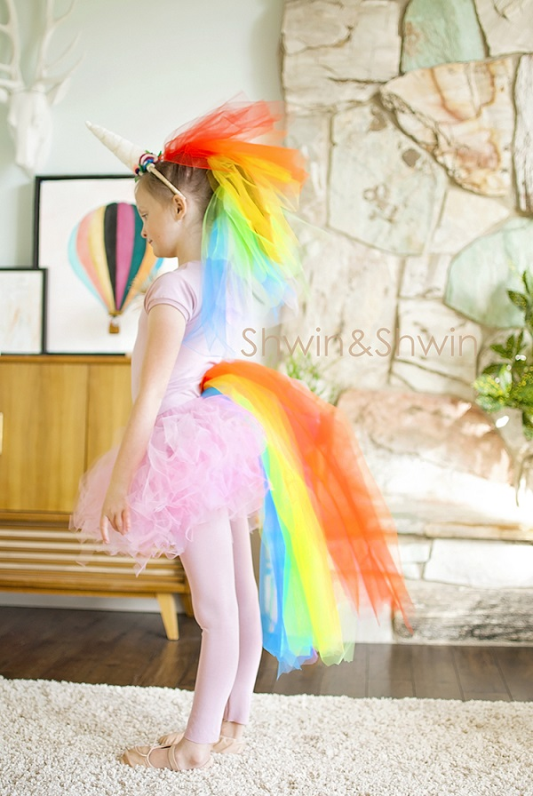 Tutorial: Rainbow unicorn Halloween costume