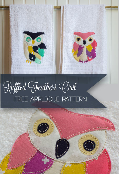 Free Pattern Ruffled Feathers Owl Appliques Sewing