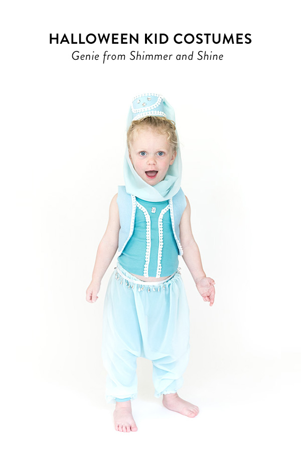 Tutorial: Last minute genie costume for a little girl