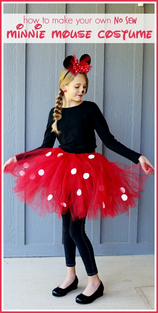 Tutorial: No-sew Minnie Mouse costume with a tutu and bow headband