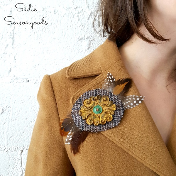 Tutorial: Tweed and antique furniture applique brooches