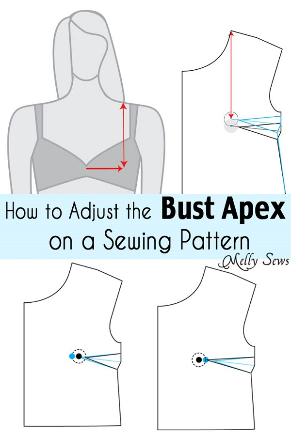Tutorial: Adjust bust apex on a sewing pattern