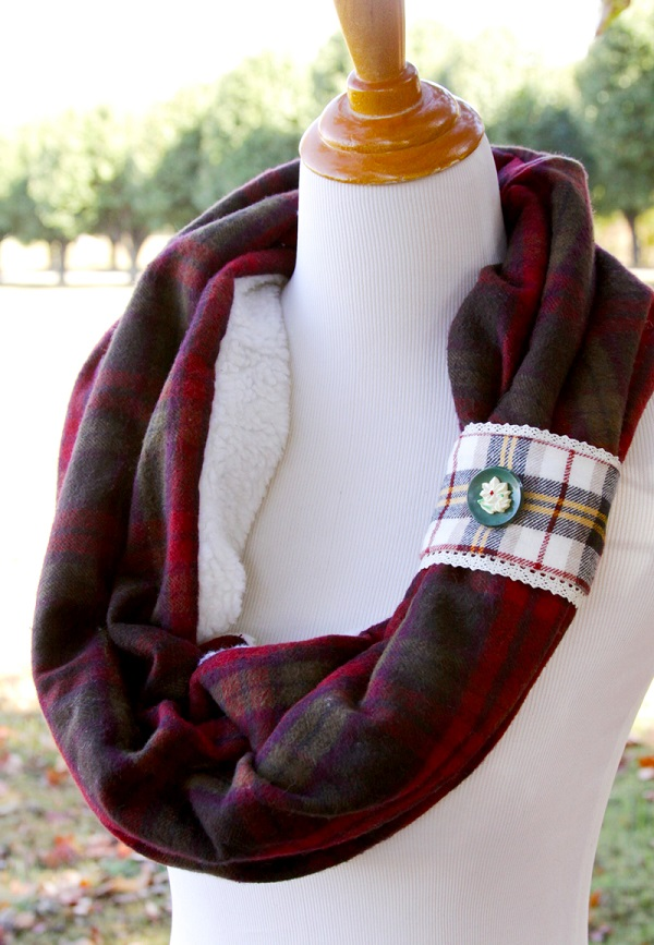 Tutorial Fleece And Flannel Scarf Sewing