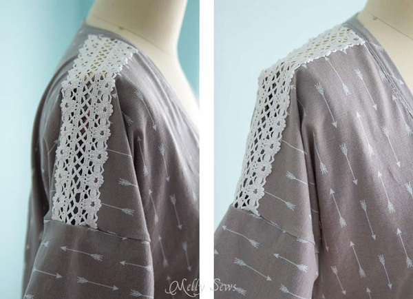 Tutorial: Sewing lace insets