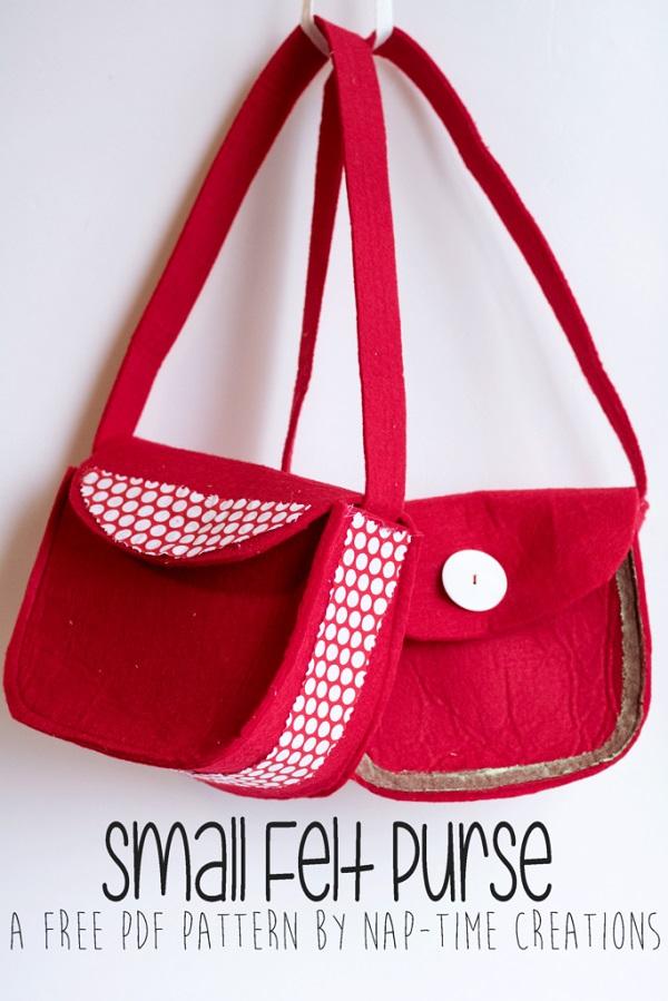 Tutorial: Little girls felt purse