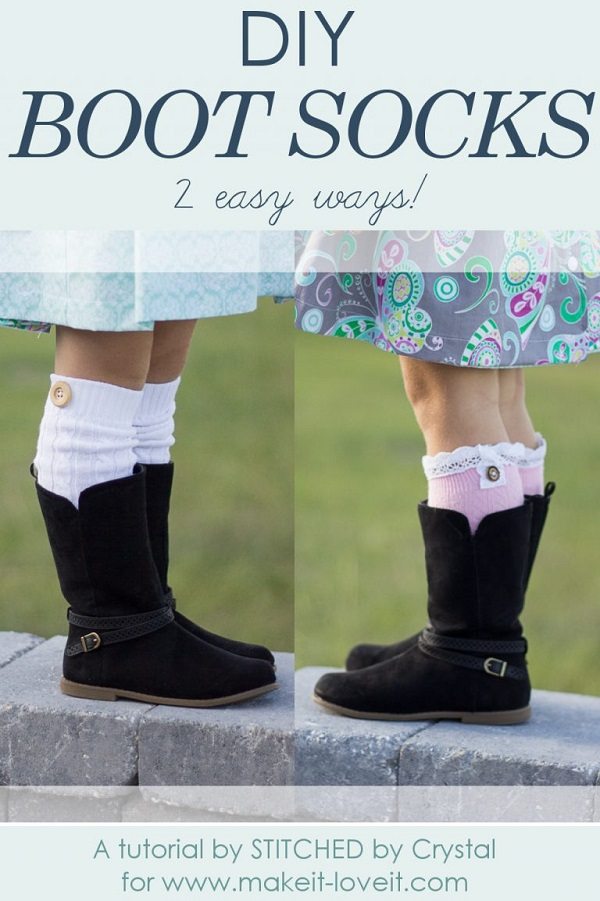 Tutorial: 2 easy ways to make boot socks