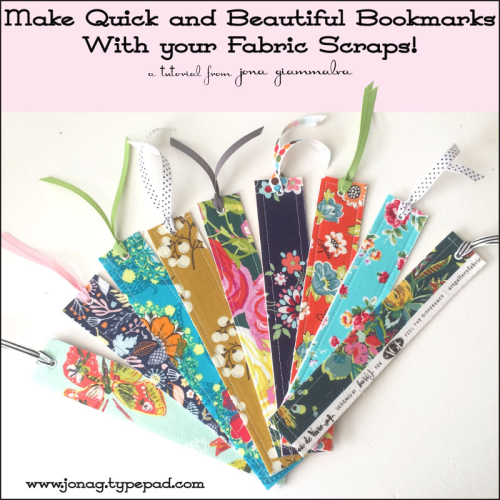 Tutorial: Easy scrap fabric bookmarks