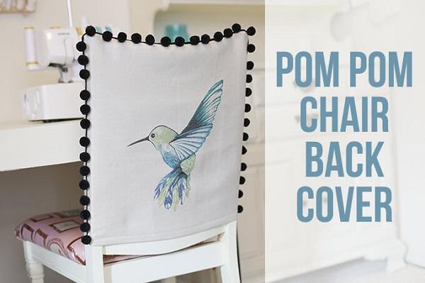 Tutorial: Easy Pom Pom Chair Back Covers