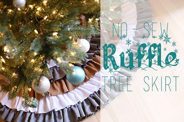 Tutorial: No-sew ruffled tree skirt
