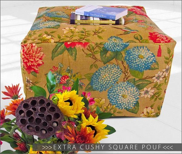 Tutorial: Square pouf ottoman