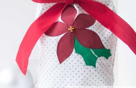 Tutorial: Reusable appliqued fabric gift bag
