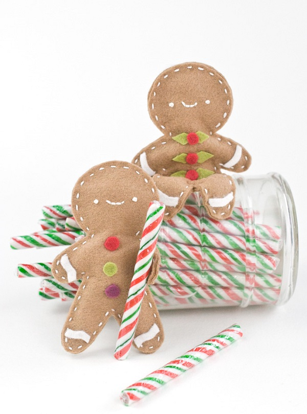 Tutorial: Posable felt gingerbread man