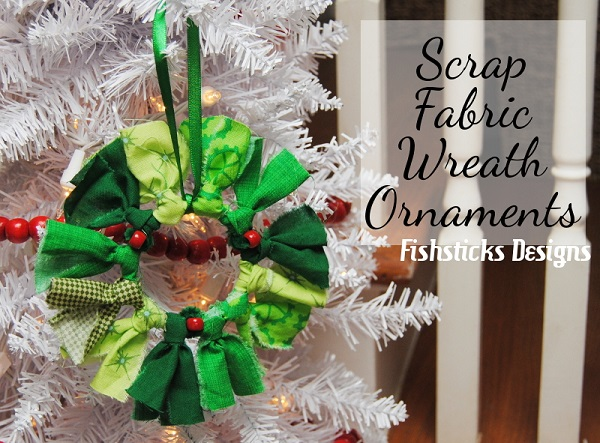 Tutorial: Easy scrap fabric wreath ornaments
