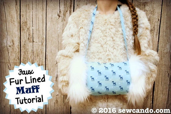 Tutorial: Faux fur lined muff