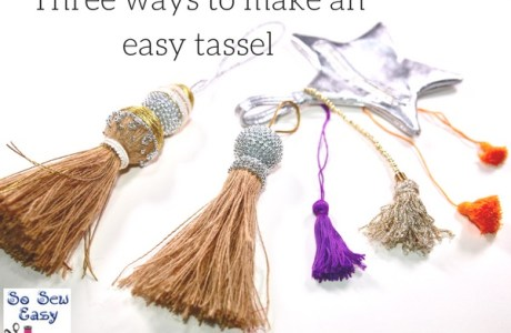 Tutorial: Three easy ways to make a tassel