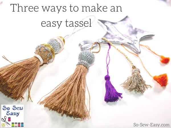 Tutorial: Three easy ways to make a tassel
