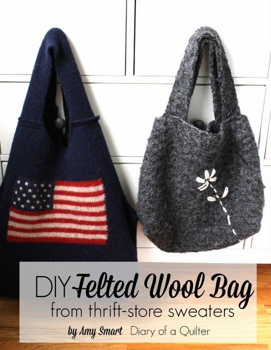 Tutorial: Felted wool tote bag