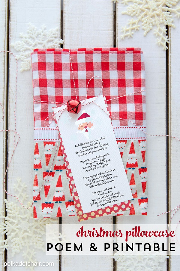 Freebie: Printable Christmas Eve magic pillowcase poem – Sewing