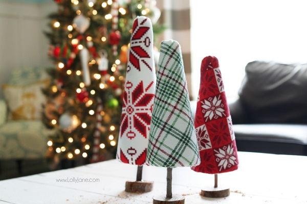 Tutorial: No-sew ugly Christmas sweater trees