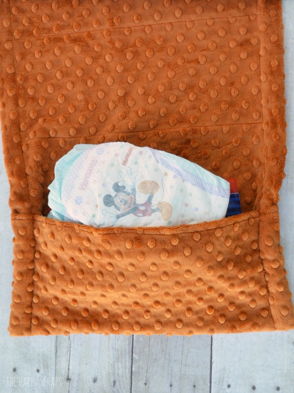 Tutorial: Fold up diaper changing pad with diaper pocket