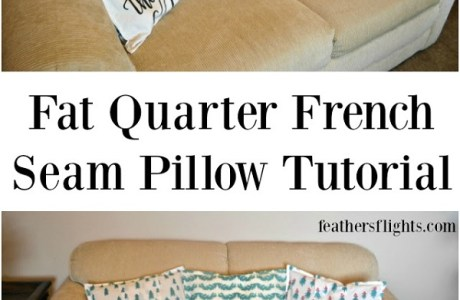 Tutorial: Easy French seam pillows