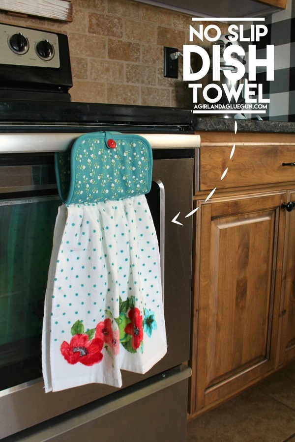 Tutorial Easy No Slip Dish Towel Sewing
