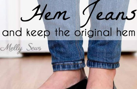 Tutorial: Shorten your jeans but keep the original hem