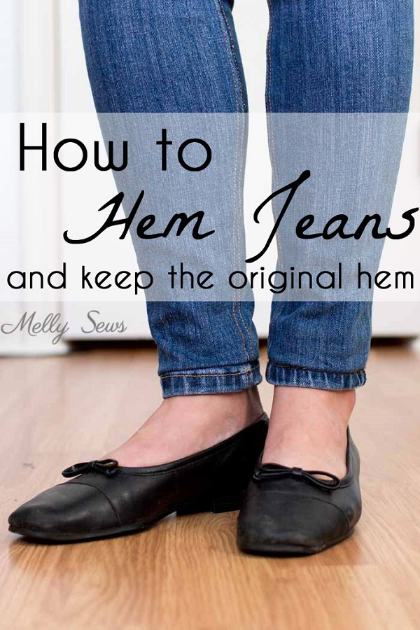 tutorial shorten your jeans but keep the original hem sewing. Black Bedroom Furniture Sets. Home Design Ideas