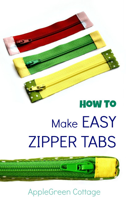 Tutorial: Make zipper tabs to cover the ends of your zippers