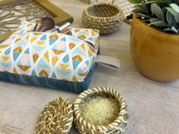 Tutorial: Boxy travel cosmetic pouch