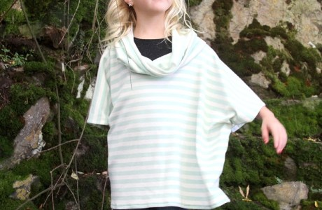 Tutorial: Girls cowl neck poncho