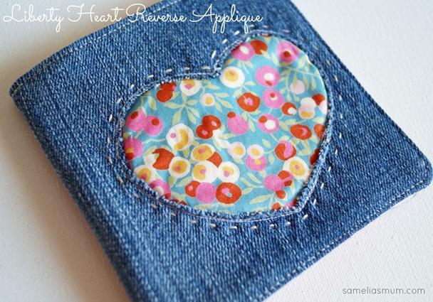 Tutorial Reverse applique heart needle book