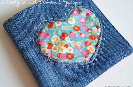 Tutorial: Reverse applique heart needle book