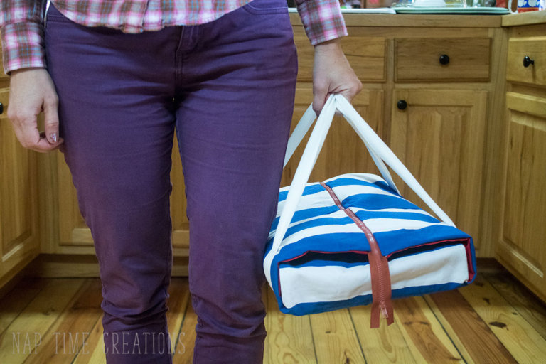 Tutorial: Zipper top casserole carrier