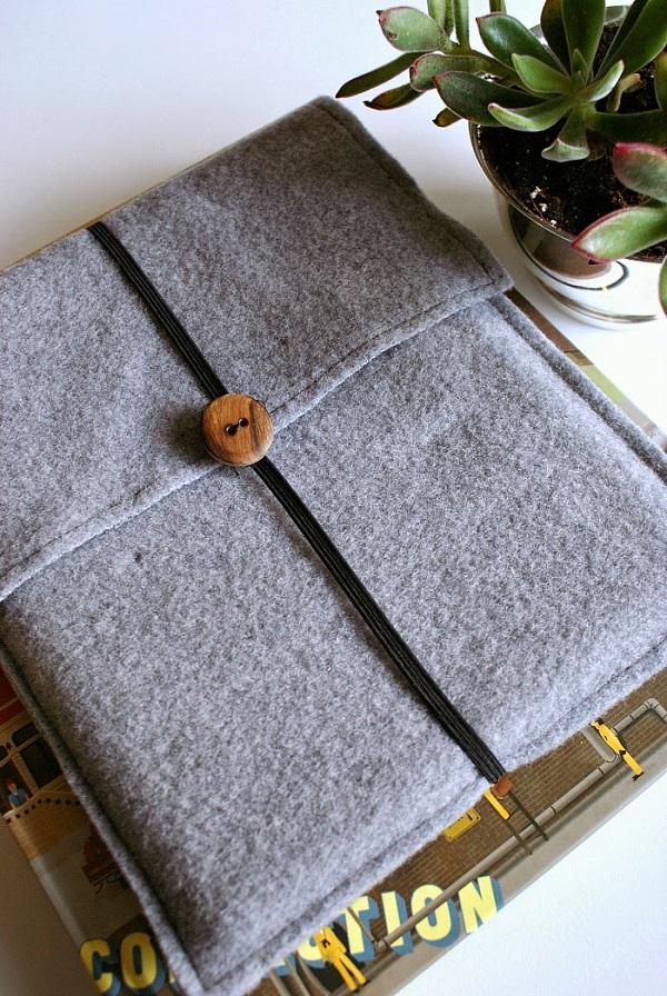 Tutorial Wool felt tablet cover