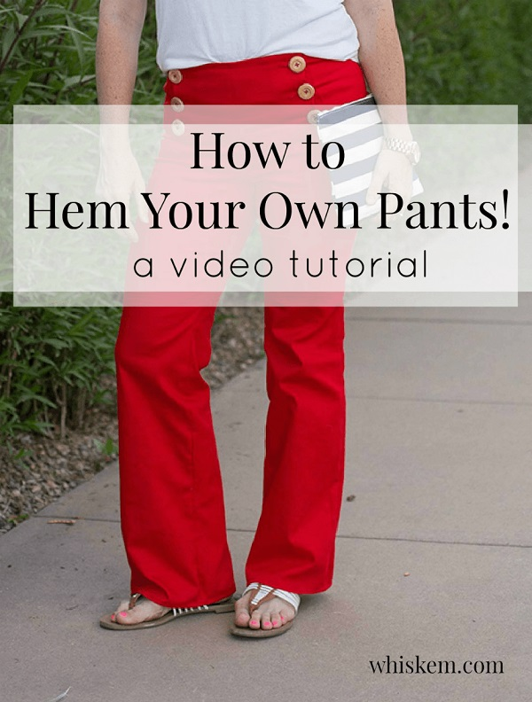 Video tutorial: How to hem pants
