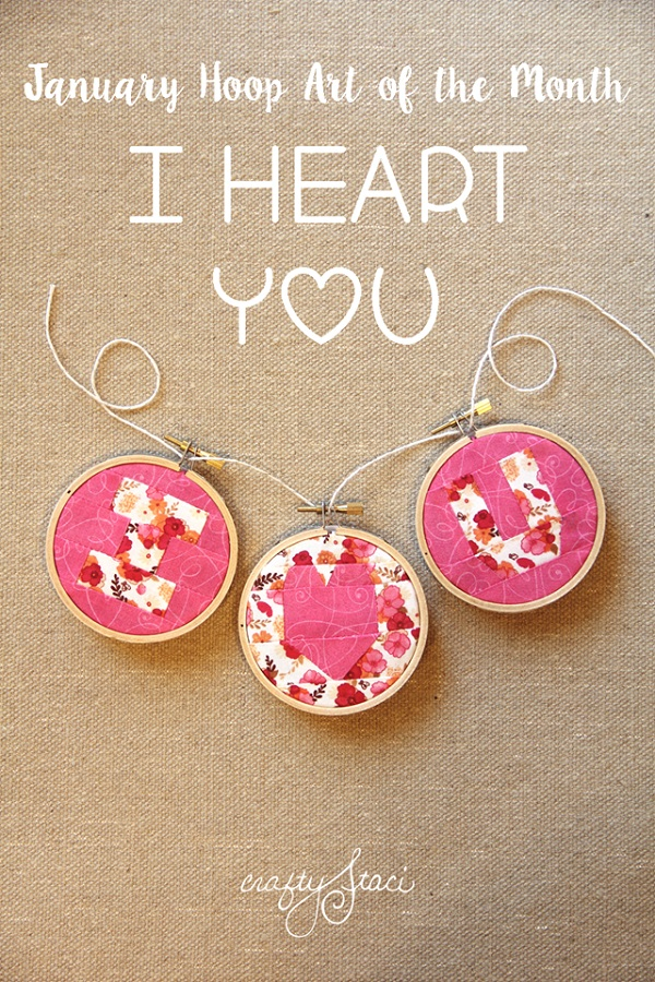 Free pattern: I Heart You Valentine's Day hoop art