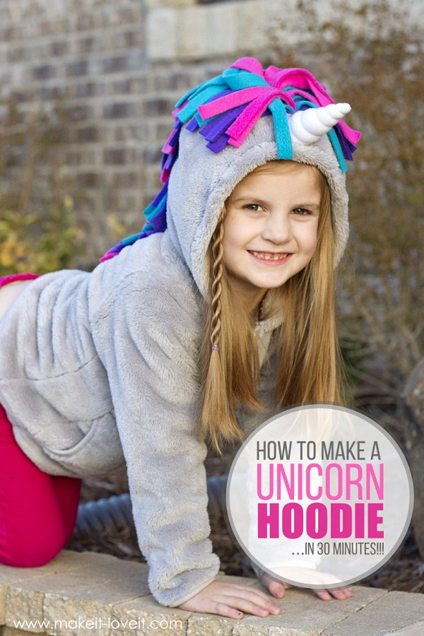 Tutorial: Easy unicorn hoodie