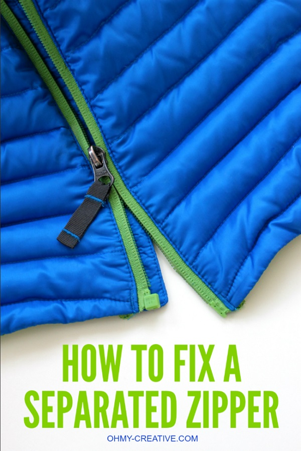 Tutorial: Easy fix for a stuck separating zipper