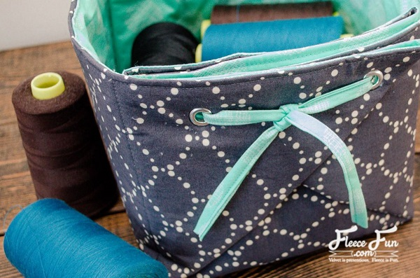 Tutorial Origami fabric basket organizer