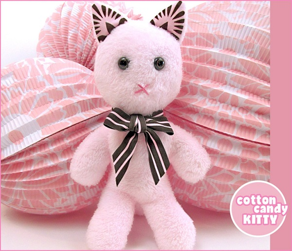 Free pattern: Cotton Candy Kitty softie
