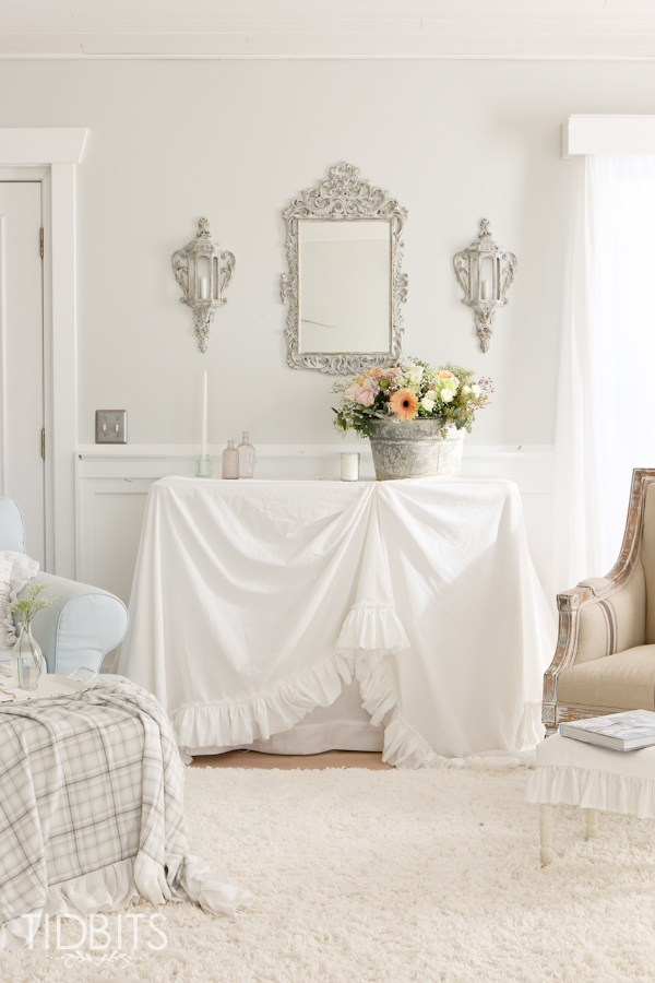 Tutorial: French vintage style ruffled tablecloth