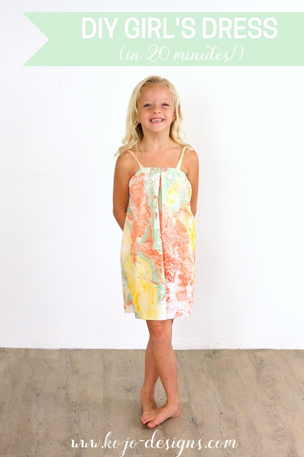 Tutorial: Make a girl's sundress from a tote bag